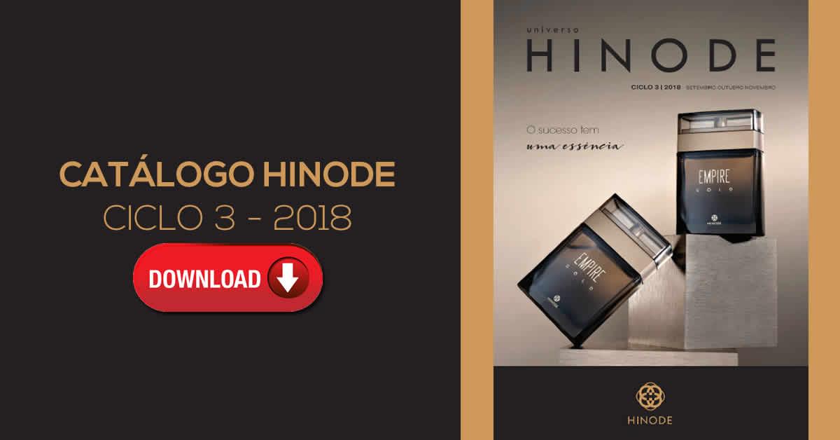 0435460099 Catálogo Hinode, Ciclo 3, Referente aos Meses: Setembro, Outubro, Novembro  de 2018.